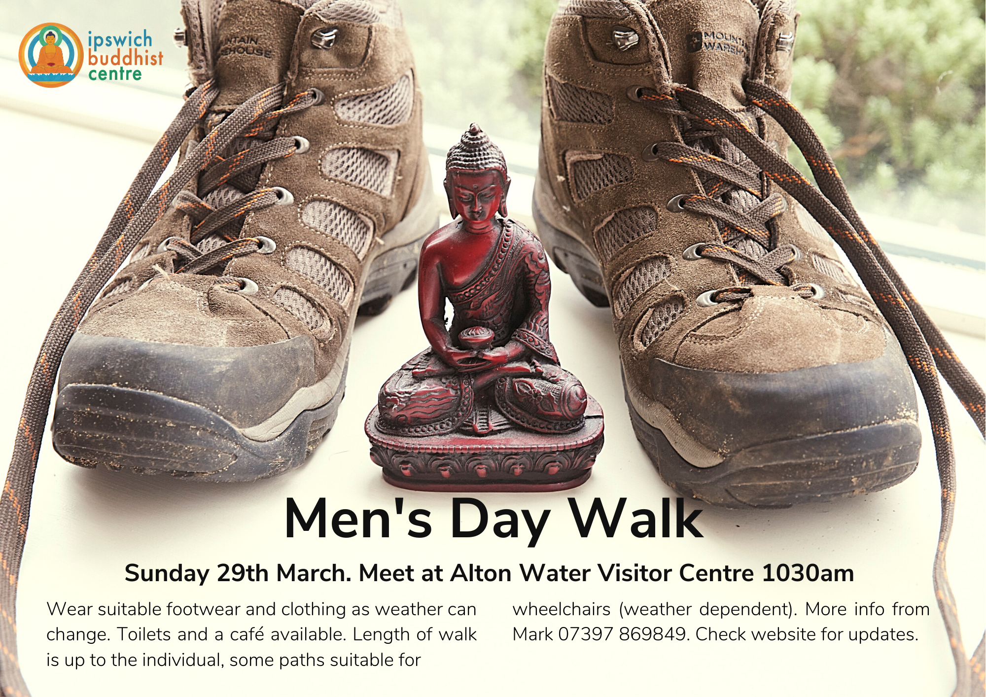 mens day walk poster