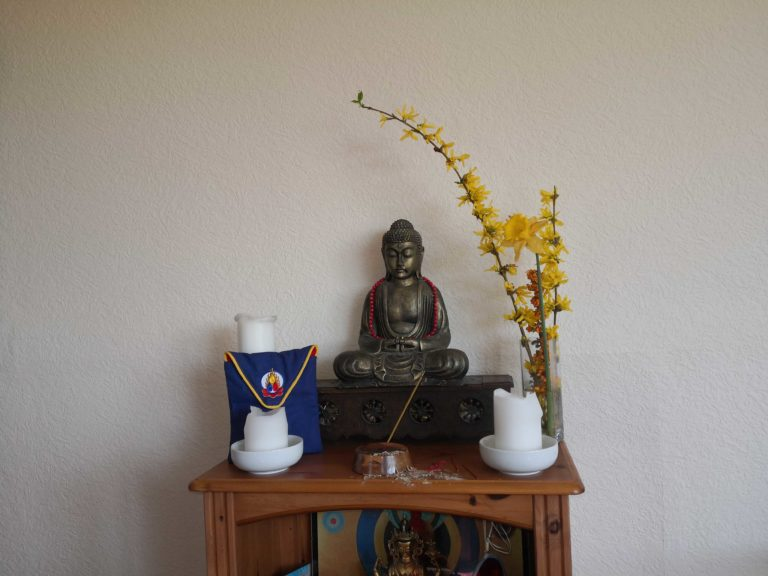 'The top part of my shrine this morning' Amoghavajra