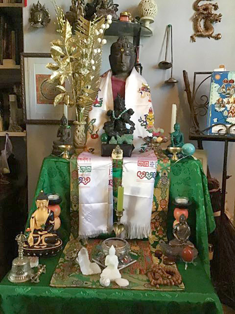 'I did a shrine dedicated to Green Tara to help stem the coronavirus' Andre