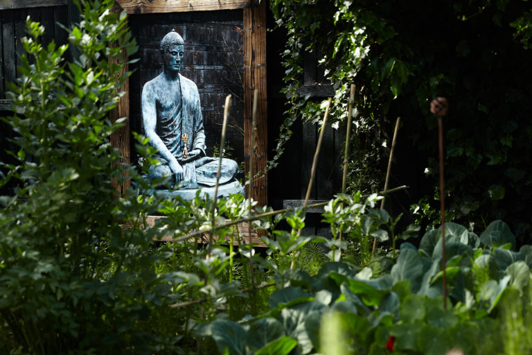 'This photograph of Akshobhya at Vajrasana is the first thing I see when I look out of my bedroom window in the monring'. Eric