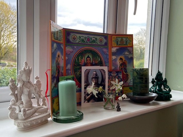 'Perhaps this isn't really a shrine. Perhaps it's a little area of rejoicing in the female Bodhisattvas' Di