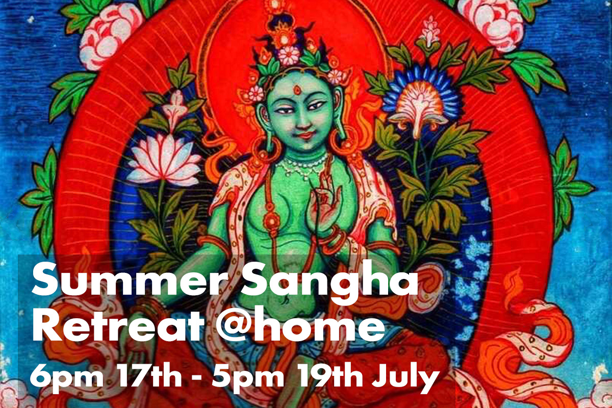 Online sangha retreat 3by2 with words